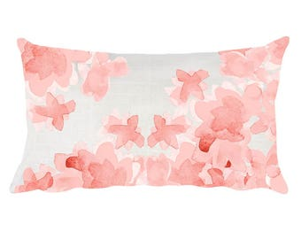 Blush Nursery Pillows, 12x20, Nursery Throw Pillow, Blush Floral Pillow, Blush Pillow, Blush Accent Pillow, Pillow for Baby's Room, Children