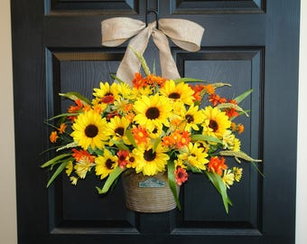 spring wreath summer wreaths for front door wreaths outdoor wreath yellow orange red wreaths for front door wreaths