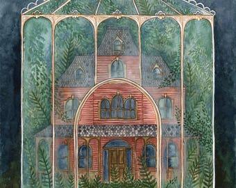 """Print - """"Hidden Manor"""""""