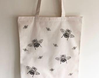 Bumble bee Tote Bag | Market bag | 100% cotton | honey bee | Reusable shopper bag | shoulder bag | canvas bag | cotton tote | gifts for her