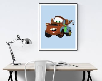 Tow Mater Minimalist Poster