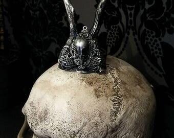Mini Bird Skull Antler Crown