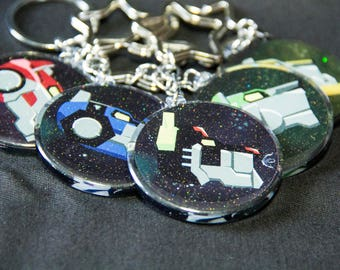 Voltron Lion and Paladin DOUBLE SIDED Glitter Acrylic Charms