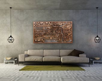 detroit skyline wall decor