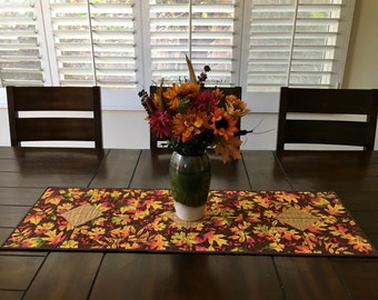 Quilted Fall Table Runner, Fall Table Runner, Quilted Table Runner, Quilted Autumn Table Runner, Fall Decor