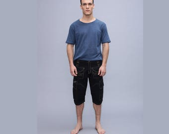 mens cargo shorts  - Men Short Pants -  Psy Trance Cargo Pants ,Burning Man,Festival Pants , Pocket Pants,