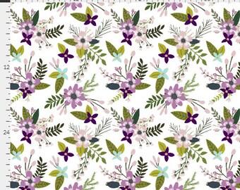 Baby Bedding Crib Bedding - Watercolor Flowers, Purple Aqua, Floral - Baby Blanket, Crib Sheet, Changing Pad Cover, Boppy Cover, Crib Skirt