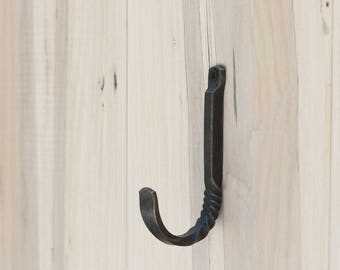 Decorative Wall Hook, Twist Hook, Unique Wall Hook, Purse Hook, Fancy Metal Hook, Entryway Hook, Blacksmith Hook, Popular Home Decor, Cabin