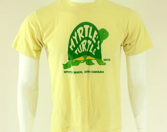 80's Myrtle's Turtle Motel T-Shirt M Myrtle Beach South Carolina
