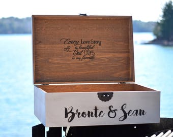 Wedding Card Box - Personalized Card Box - Wood Card Box - Anniversary Card Box - Wedding Card Holder - Letter Box - Graduation Card Box