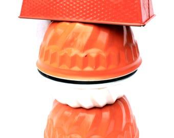 Orange Cake Molds Set Gugelhopf Ring Cake Bundt Cake Pan Molds Baking Set Orange Kitchen