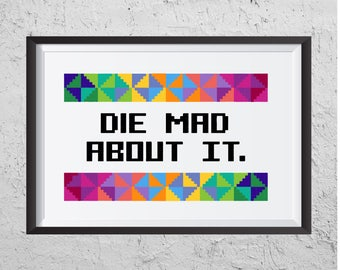 Die Mad About It - Modern Cross Stitch PDF - Instant Download
