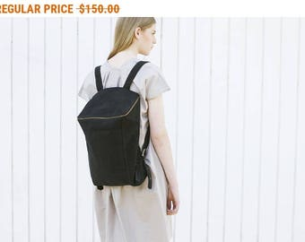 Sale, Fabric Backpack, Gray Canvas Travel Bag, Women Rucksack, Laptop Backpack - Gray Canvas Lou
