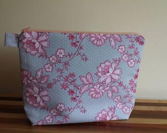 Large Floral Zip Bag