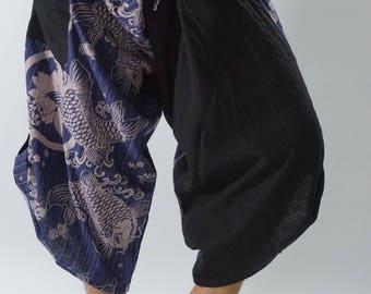 SR0256 Samurai pants with Unique Hilltribe fabric Wrap Around
