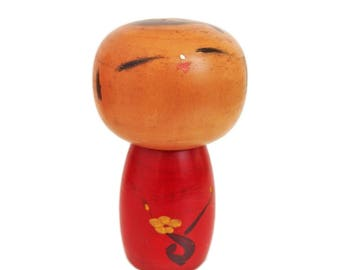 Beautiful, Rare Vintage Kokeshi Doll by Award Winning Artist Toa Sekiguchi. Kindai Kokeshi. Modern. Japanese Doll. Sosaku Kokeshi Doll.