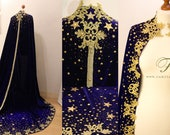 SAMPLE SALE -Star Cape, cloak blue velvet