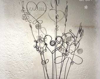 Bouquet of flowers timeless wire