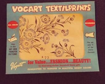 No. 77  Vogart Textilprints.  All Color Washable. Unused. Blue Floral Themed.