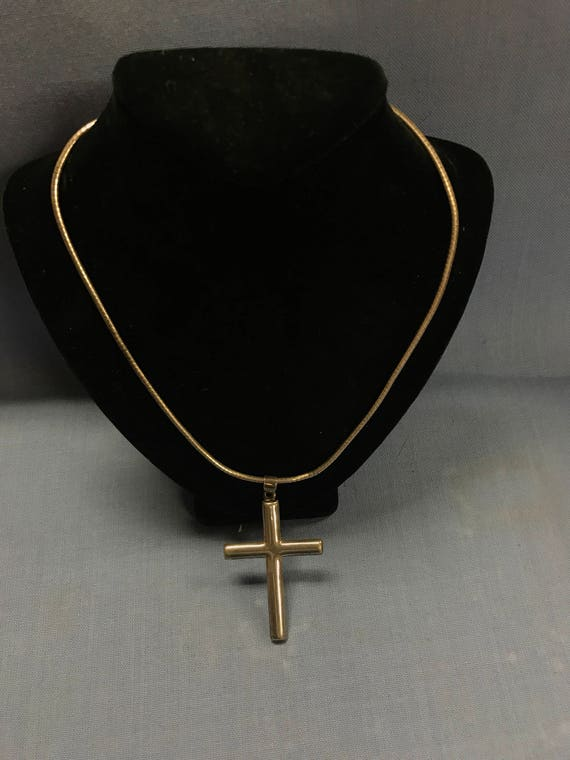 Sterling silver cross necklace vintage