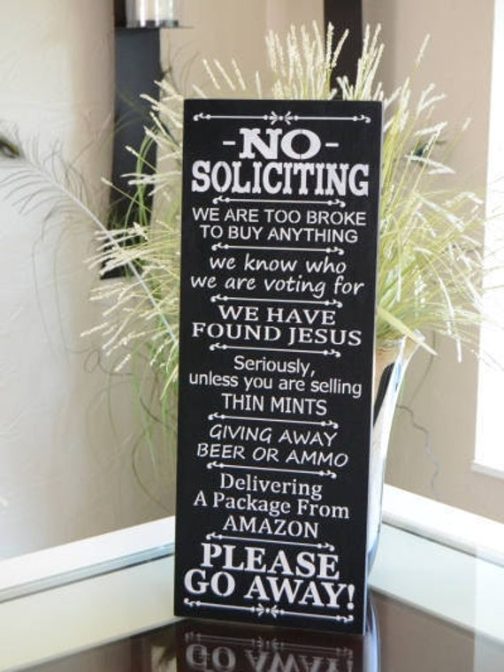 Items Similar To No Soliciting Sign Thin Mints Beer Or