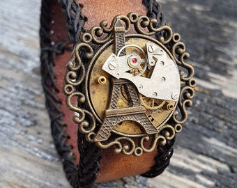 Steampunk Paris Fair Wristband Cuff -Steampunk Bracelet-Steampunk cuff-steampunk Girlfriend Ladies gift