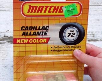 Pink Cadillac Allante Diecast  Matchbox Car, 1990, NIB