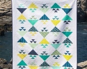 Flock of Geese - digital quilt pattern - a modern birds in the air pattern - baby and lap sizes