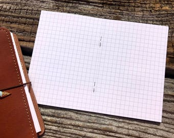 Traveler's Notebook A6 Size Grid Inserts