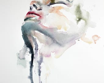 influent . giclee fine art print of watercolor painting