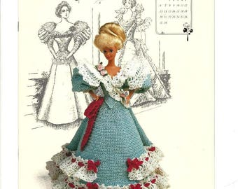 Annie's Calender Bed Doll patterns, Jan. to Dec. 1994, Gibson Girl Collection, vintage crochet patterns, plus five 1991 designs, crochet