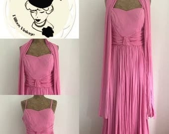 1950's Evening Dress with Shawl