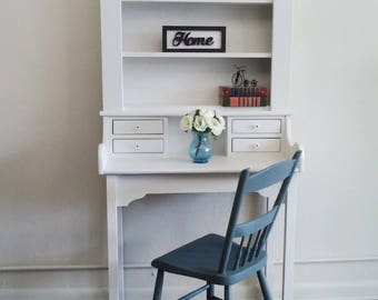 Vintage writing desk and chair