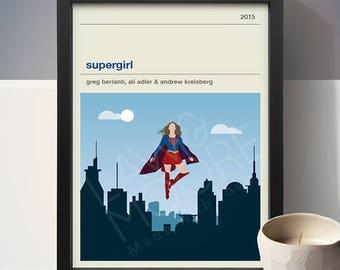 Supergirl TV Poster, TV Print, Print, Poster