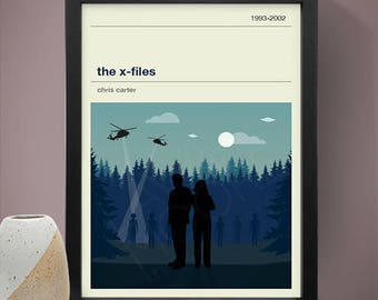 The X-Files TV Series Poster, TV Print, Print, Poster