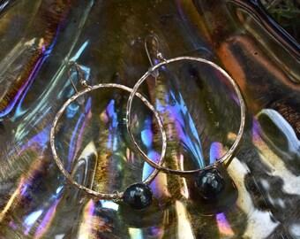 Tahitian pearl hoops