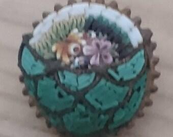 Small vintage Micromosaic brooch