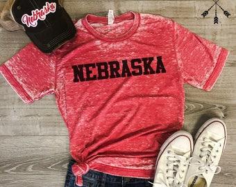 Nebraska Tshirt, Football Nebraska, FROST, Football shirt, Home T-shirt, Nebraska graphic t, state pride tshirt,  free ship,