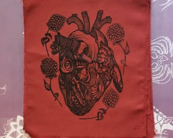 Back Patch Abstract Heart & Thistle