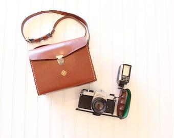 Vintage Camera Bag Leather Purse Camera Case Shoulder Camera Bag