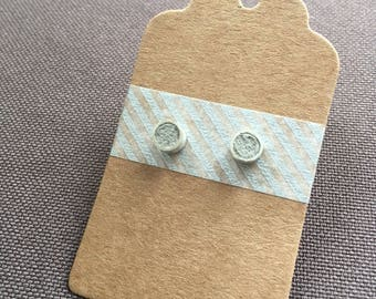 Concrete earrings, concrete pins, sterling silver geometric earrings, handmade earrings, modern minimalist, gift for mom, christmas gift