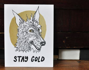 Screen Print - Stay Gold Dog