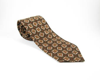 Brown Vintage Necktie Neck Tie