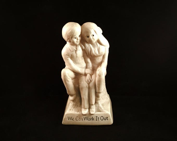 """Couple Sillisculpt Statuary """"We Can Work It Out"""" (1971)"""