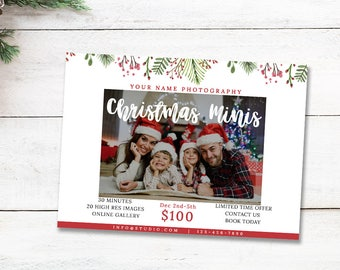 Mini Session Template, Holiday Photography Template, Photography Marketing Materials, Instant Download, For Photographers, mc175