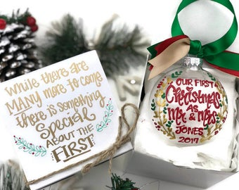 First married christmas ornament  Etsy