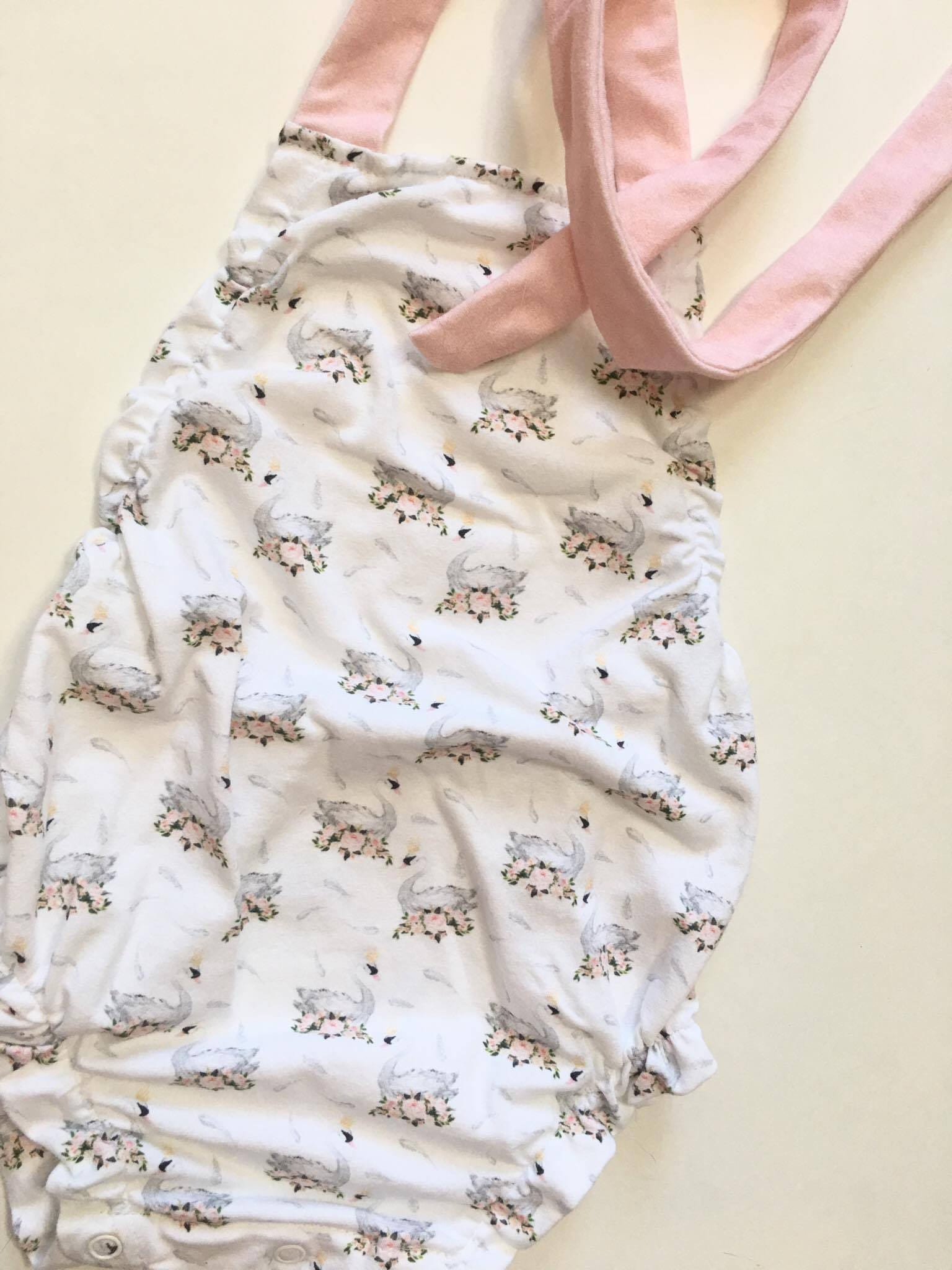 Little Swan Romper ing home outfit baby girl clothes pregnancy