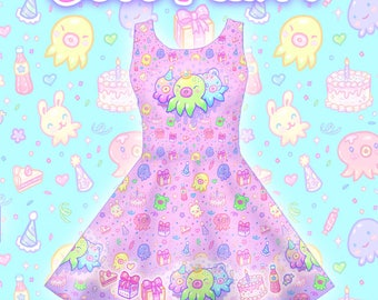 """Pink """"OctoParty"""" Dress"""