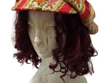 Baker boy hat, newsboy hat, dread hat, festival hat, boho hat, slouchy hat, heady hat, funky hat, apple cap, applejack hat, custom size