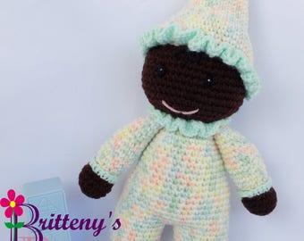 Baby Girl Doll / Crochet Baby Girl Doll / My First Doll / Stuffed Cotton Candy Baby Girl Doll / Plush Candy Baby Girl Doll / Crochet Stuffy